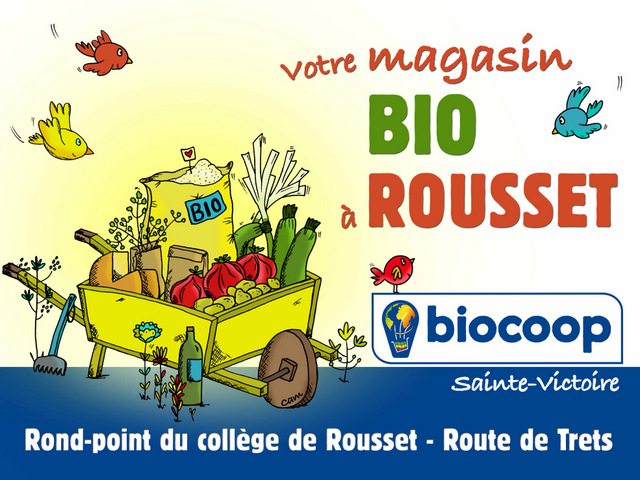 Grand panneau 4x3 pour une Biocoop