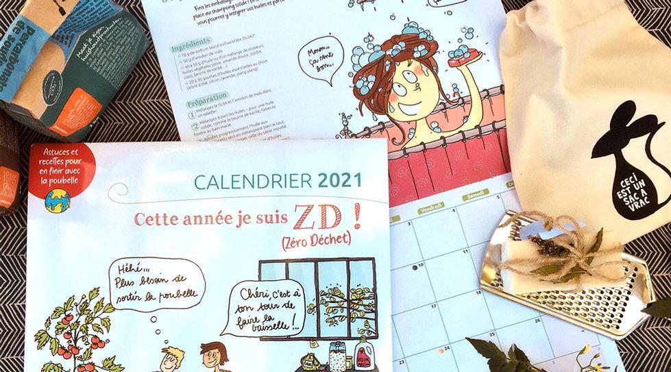 Calendrier 2021 Zéro Déchet Camille Piantanida Terre Vivante