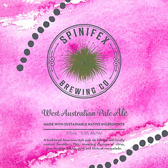 Spinifex bar tap decal 140 x 140 square