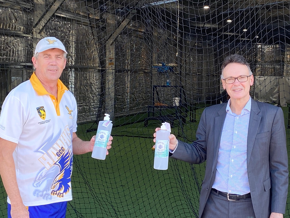 Ross Leipold from the Gosnells Cricket Club and Chris Tallentire
