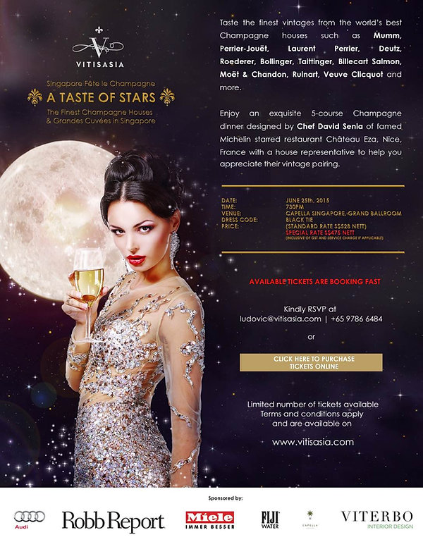 Vitisasia, Singapore Fete Le Champagne, Ludovic Tendron, fine dinning Asia