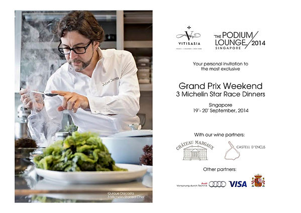 Vitisasia, Quique Dacosta, 3 Michelin Star Race Dinners