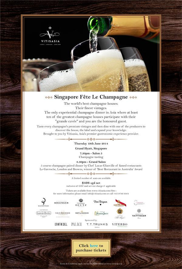 Vitisasia, Singapore Fete Le Champagne, fine dinning Asia