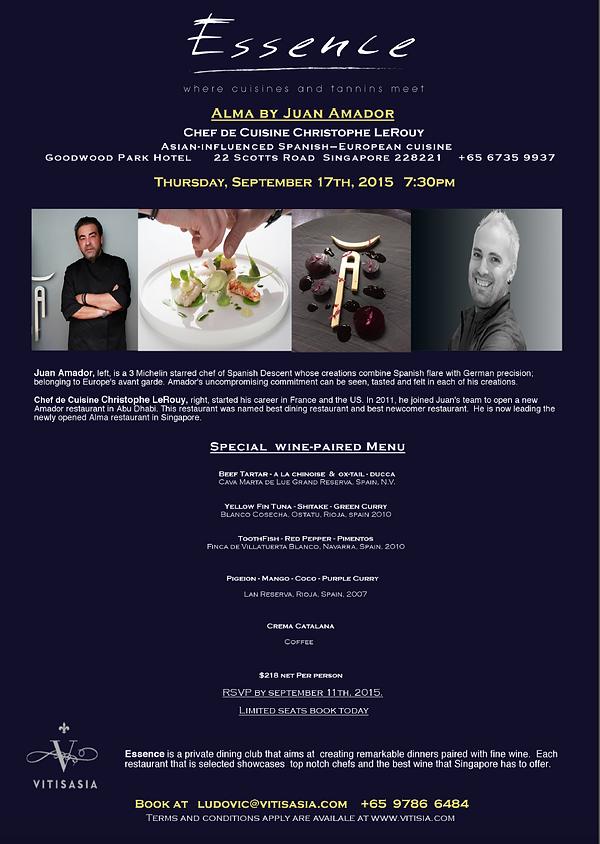 Ludovic Tendron, Vitisasia, Juam Amador Singapore, fine dinning Singapore, fine wine Singapore