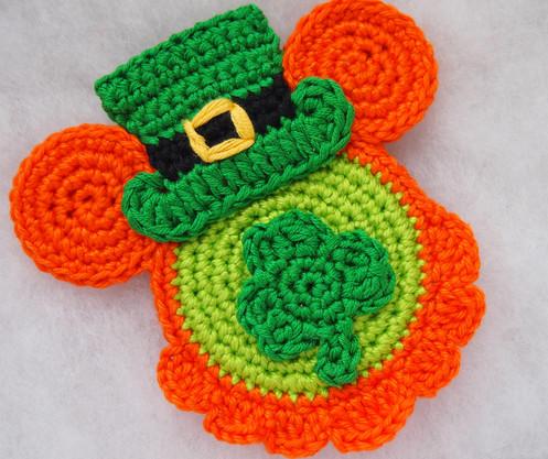 Leprechaun Mickey Crochet Pattern Disney St Patrick Day Mouse Head