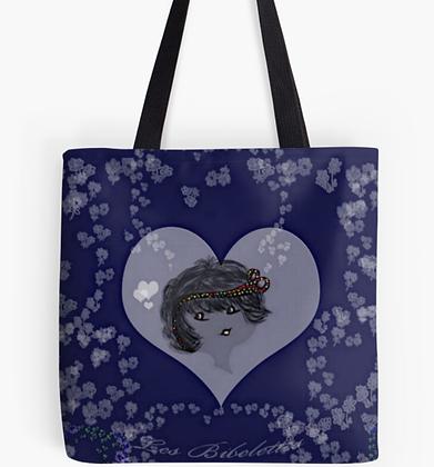 A fleur de coeur : sac + foulard