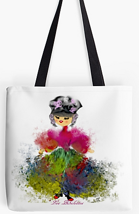 Rubans et papillons : sac + foulard