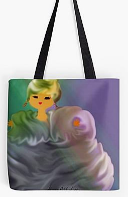 Nébuleuse : grande pochette + foulard + sac
