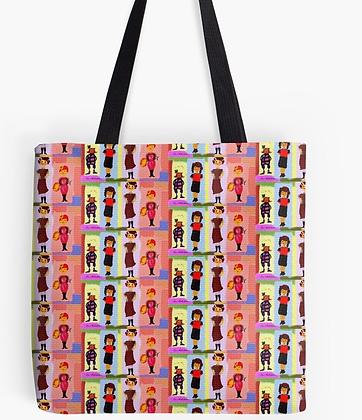 Cousines : pochette + foulard + sac