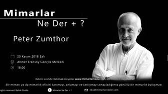 Peter Zumthor Namık Kemal Üniversitesi'nde Konuşulacak