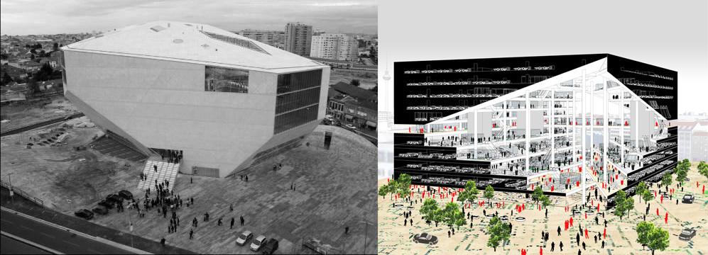 Axel Springer Campus, OMA, Yapım aşamasında Casa da Música, OMA, 2001