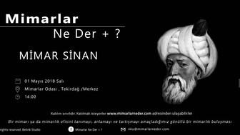 Namık Kemal Üniversitesi'nde Mimar Sinan konuşulacak