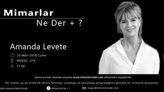 MSGSÜ Amanda Levete'yi Konuşacak