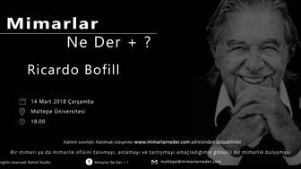 Maltepe Üniversitesi İlk Buluşmasında Ricardo Bofill'i Konuşacak