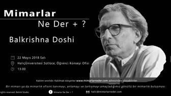 Balkrishna Doshi Haliç Üniversitesi'nde Konuşulacak