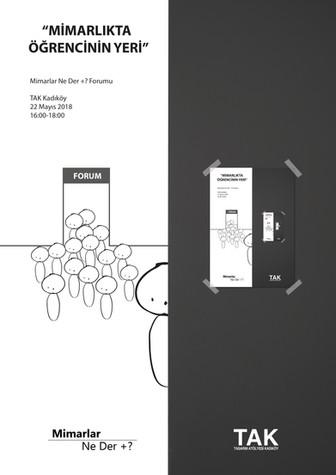 Mimarlar Ne Der +? Forumu 2018' Tasarım Atölyesi Kadıköy'de