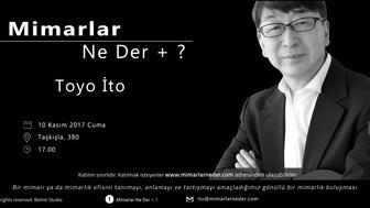 İTÜ Bu Hafta Toyo İto'yu Konuşacak