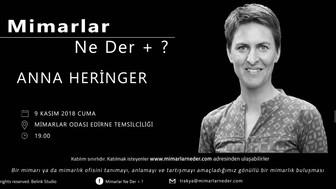 Trakya Topluluğu Anna Heringer'i Konuşacak