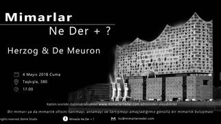 İTÜ'de Herzog & De Meuron konuşulacak