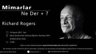 Haliç Üniversitesi'nde Bu Hafta Richard Rogers Konuşulacak