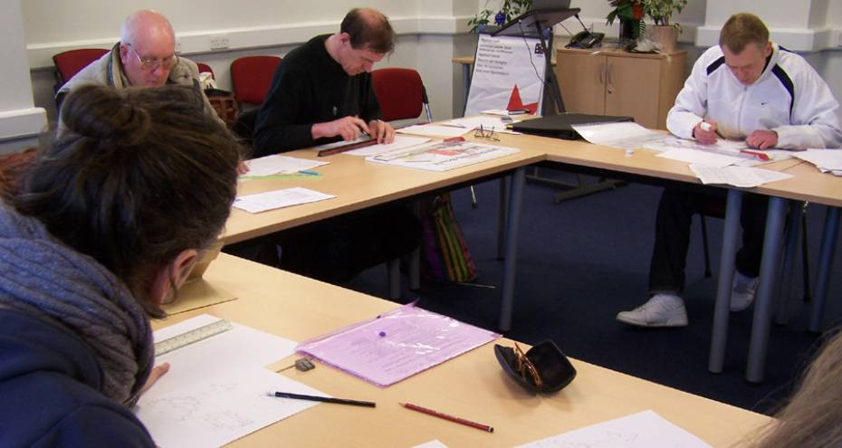 Training in scaled drawing, 2013