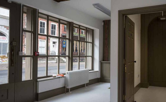 Ground floor of King Street, after conservation (Derek Jackson)
