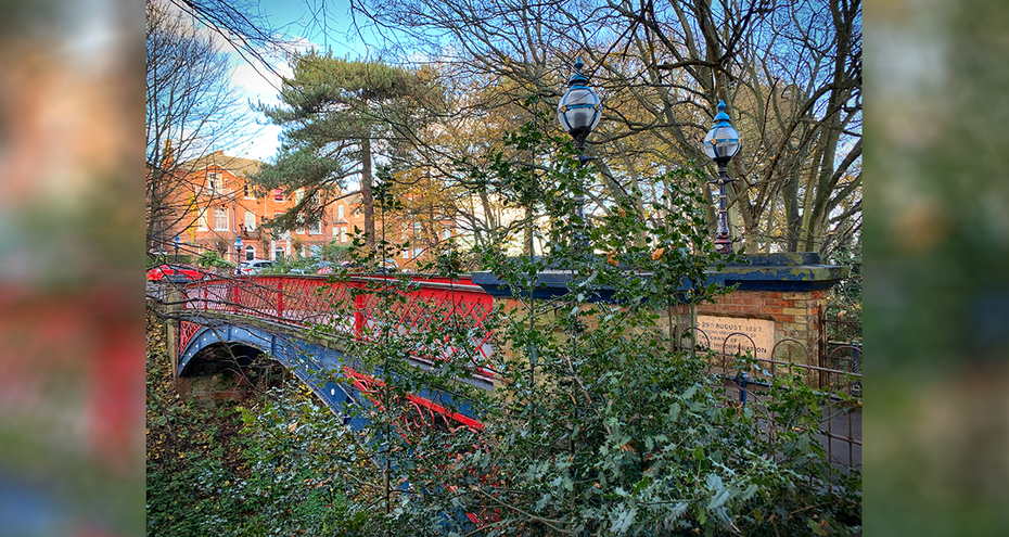The Ravine - Jubilee Bridge from Belle Vue Park