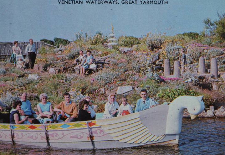 Boats on the Waterways, with decorative animal heads
