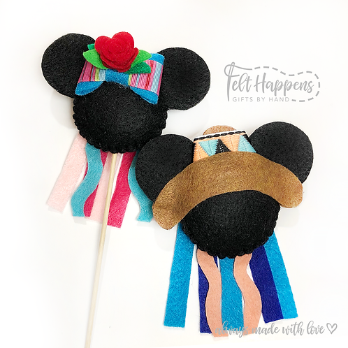 Fiesta Mouse Party Pin / Cake Topper