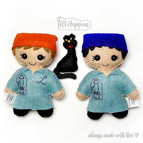 Laverne and Shirley Stubbies