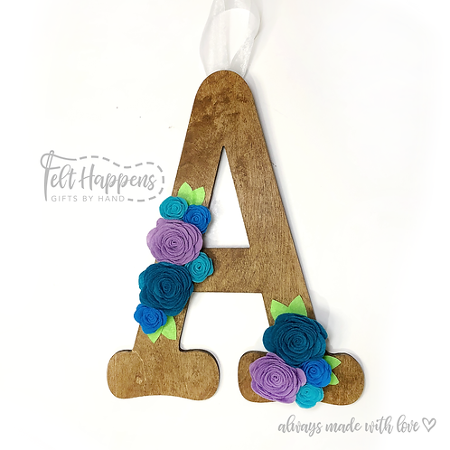 Wooden Letter Door Hanger