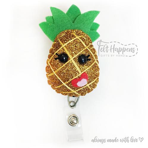 Pineapple Badge Holder