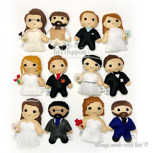 Bride & Groom Lookalike Stubbies