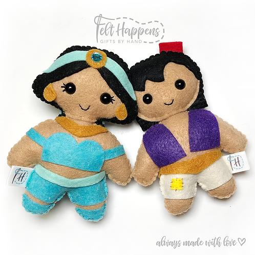 Aladdin and Jasmine Stubby