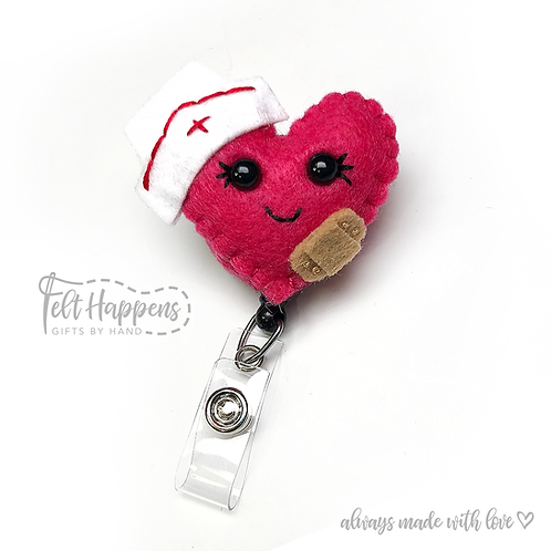 Nurse Heart Badge Holder