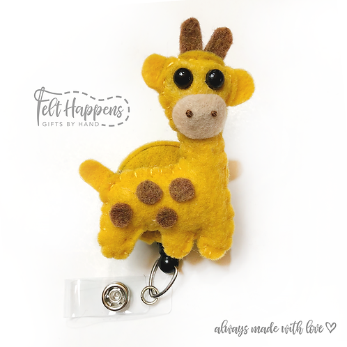 Giraffe Badge Holder