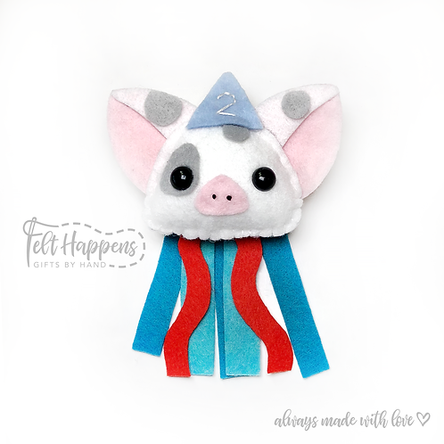 Pua Pig Party Pin / Cake Topper