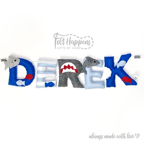 Shark Name Banner