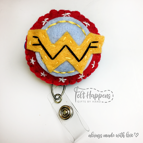 Wonder Woman Badge Holder