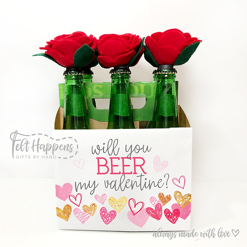 Bottle Bouquet Rose Magents
