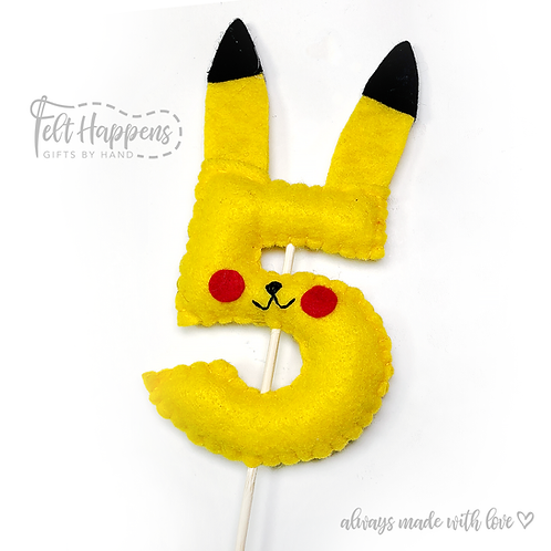 Pikachu Number Topper