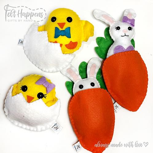 Easter Plush Pouches