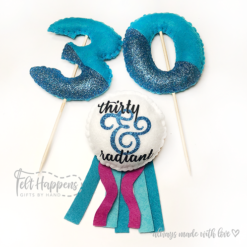 Age Topper and Party Pin