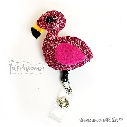 Flamingo Badge Holder