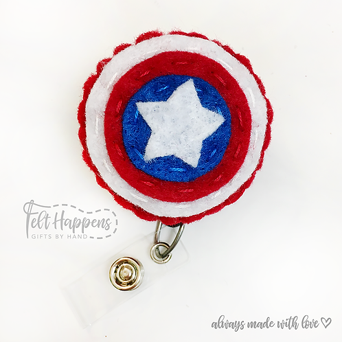 Captain America Badge Holder