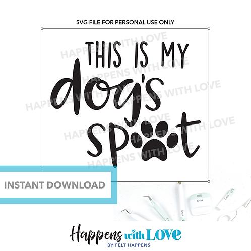 My Dog's Spot SVG File