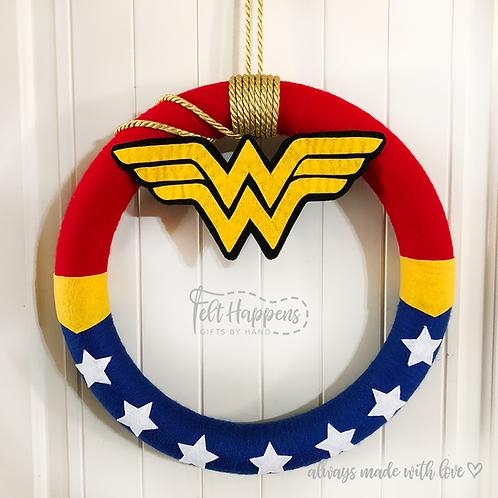 Wonder Woman Wreath