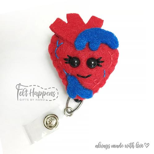 Anatomical Heart Badge Holder