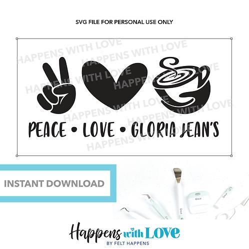 Peace Love Gloria Jeans SVG