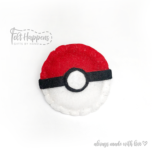 Pokeball Badge Holder